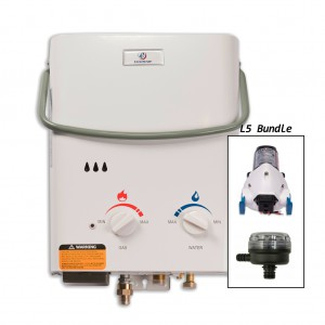 1.5 GPM Tankless Liquid Propane Portable Water Heater with Flojet Pump and Strainer